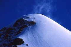 Climbers on Pisang Peak nearing top from HC 9/10/00